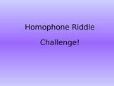 Homophone Riddles