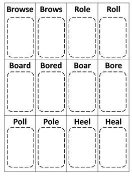 Homophone Rummy Card Game
