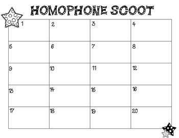 Homophone Scoot