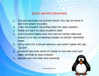 Homophones Scoot Activity/Task Cards
