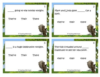 Homophones Scoot Activity/Task Cards (They're, Their, There)