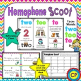 Homophone Scoot Game - two, to and too
