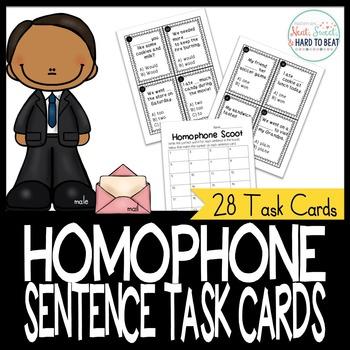 Homophone Sentence Task Cards