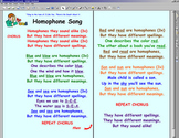 Homophone Song & Hands - documents & Smartboard files