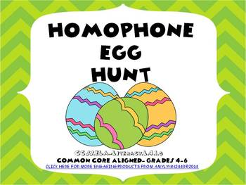 Homophone Spring Easter Egg Hunt Common Core Aligned