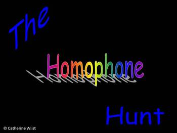 Homophone (Synonyms & Antonyms) Hunt on PowerPoint