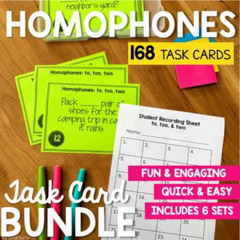 Homophone Task Card Bundle