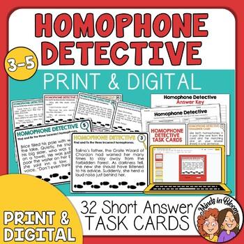 Homophone Detectives Task Cards