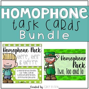 Homophone Task Cards {Bundle}