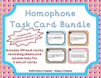 Homophone Task Cards - Bundle