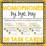 Homophone Task Cards: By, Bye, Buy