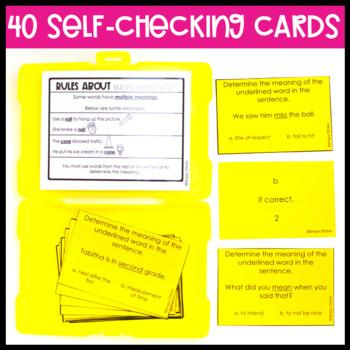 Homophone Task Cards Game