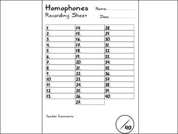Homophone Task Cards - SET #2 (40 cards)