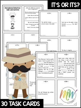 Its & It's: Homophone Task Cards