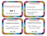 Homophone Task Cards- Set 1 for Beginners