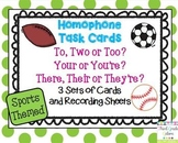 Homophone Task Cards - Sports Themed