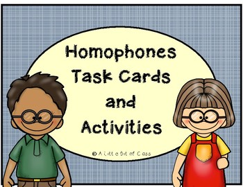 Homophone Task Cards and Activities