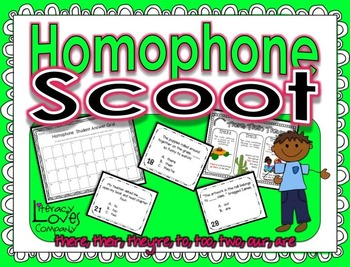 Homophone Task Cards and Scoot