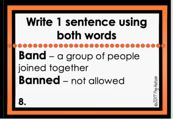 Homophone Task Cards and Writing Activity