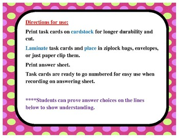 Homophone Task cards (STAAR formatted) with student proof space!
