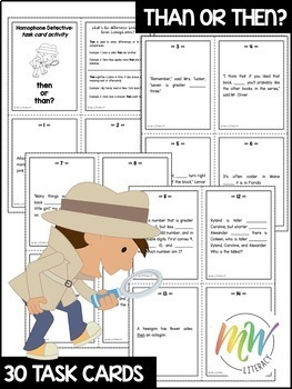Then & Than: Homophone Task Cards