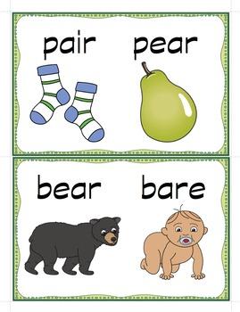 Homophones - Teaching Cards