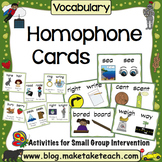 Homophones - Teaching Cards