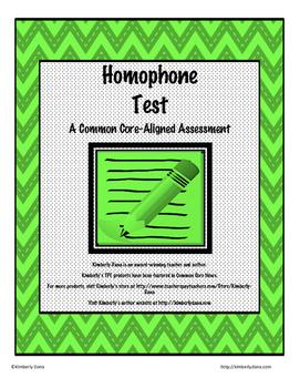 Homophone Test