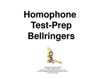 Homophone Test-Prep Bellringers Power Point