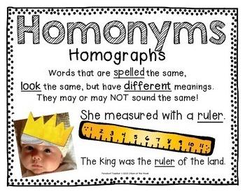 Homonyms of the Week: A School Year of Homonyms!