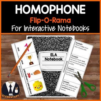 Homophones Interactive Notebook
