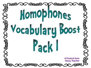 Homophone Vocabulary Boost Set 1