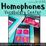 Homophone Vocabulary Center