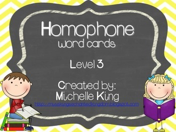 Homophone Word Cards- Level 3