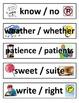 Homophone Word Wall