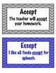 Homophone Word Wall Cards