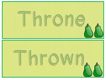 Homophone Word Wall Cards & Student Dictionary Activity