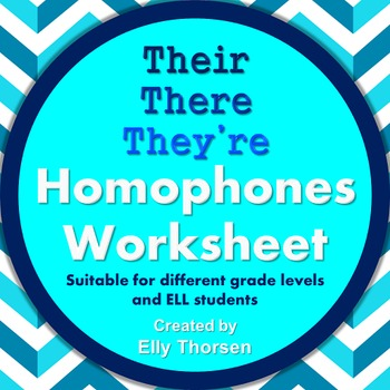 Homophones Worksheet: Using Their, There, and They're Correctly
