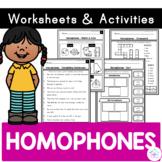 Homophones - Worksheets