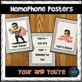 Homophones Your and You're Posters