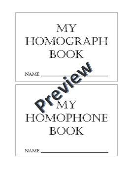 Homophone and Homograph book
