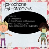 Homophone and Homonyms Worksheet and Activity Bundle