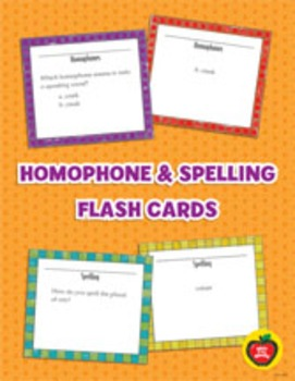 Homophone and Spelling Flash Cards