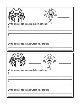 Homophone of the Day [MINI-BOOKLET] 48 Words Covered WITH Visuals!