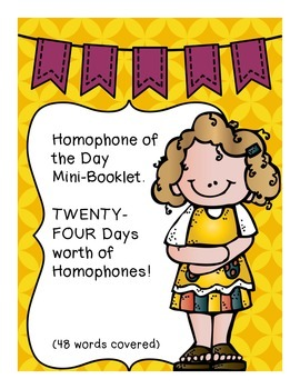 Homophone of the Day [MINI-BOOKLET] 48 Words Covered WITH
