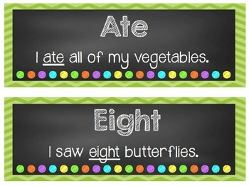 Homophone of the Week - Language Arts Instruction and Display