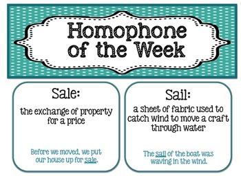 Homophone of the Week - 36 Weeks Included!!