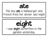 Homophone of the Week Word and Sentence Strips