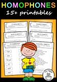 Homophone Pack - Literacy - 15+ printable worksheets