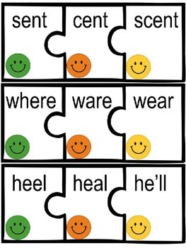 Homophone puzzles with worksheets